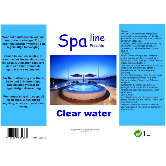 Spa Clear water 1 liter