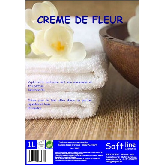 Soft Creme de fleur badcreme 1 Liter